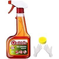 Mistolin 油烟机清洗剂厨房去油污清洁剂 重油污强力除油剂油污净545ml(进口)(亚马逊自营商品, 由供应商配送)