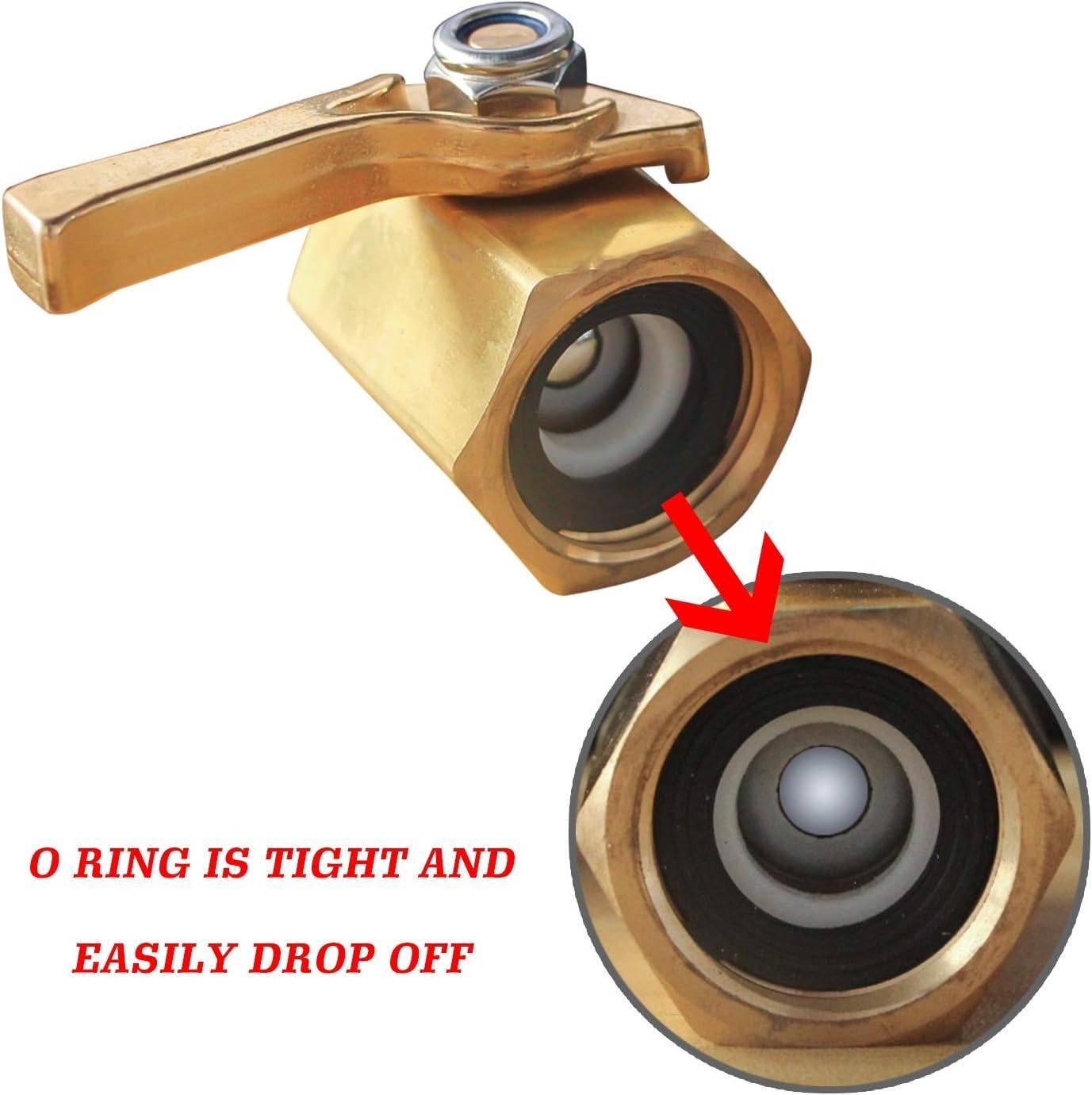 3//4 Heavy Duty Brass Garden Hose Shut Off Ball Valve Xiny Tool Shut Off Valve