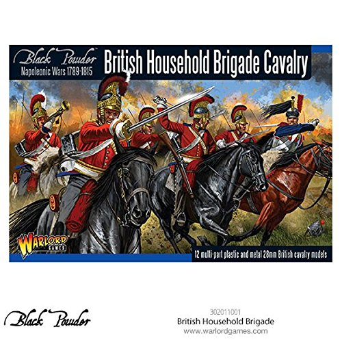 (Black Powder British Household Brigade Cavalry Figures 18th & 19th Century Military Wargaming Plastic Model Kit)