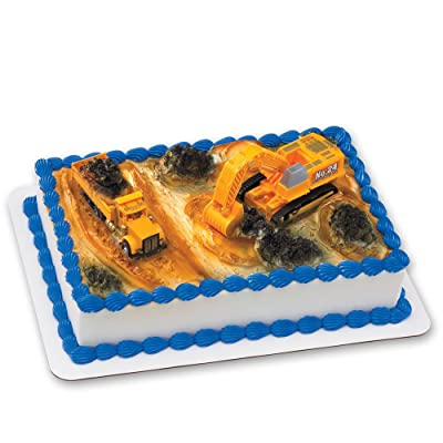 Construction Dig DecoSet Cake Decoration: Toys & Games