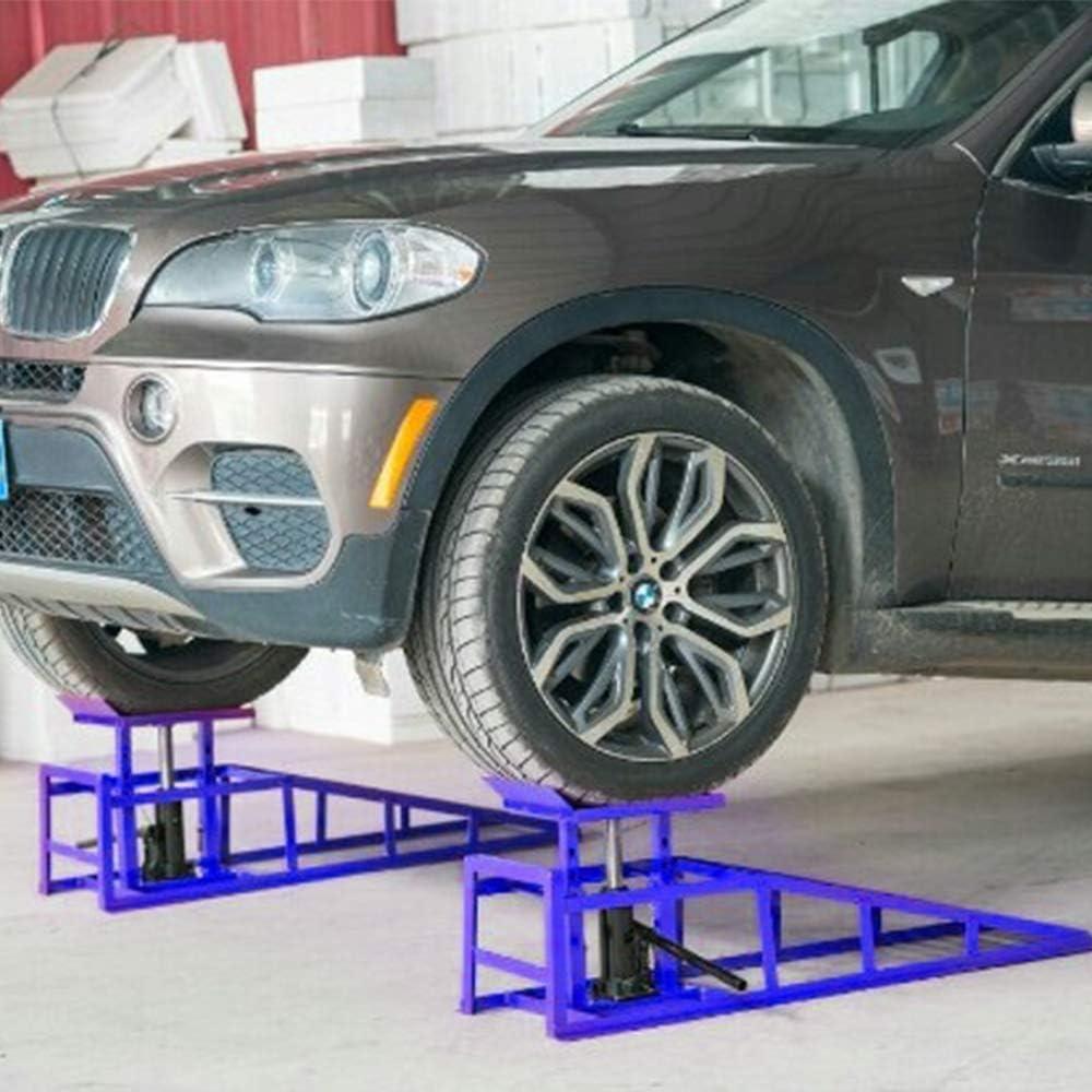LZQ 2 St/ück Auto PKW Auffahrrampen Laderampe Set mit hydraulischem Hebeplattform Wagenheber bis 245er Reifen 2000 kg