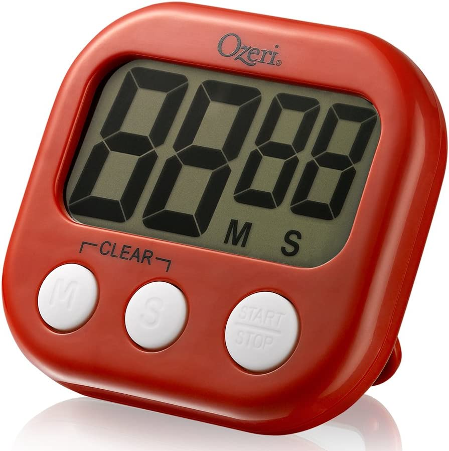 The Ozeri Kitchen and Event Timer, Red
