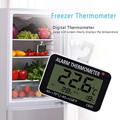LCD Digital Thermometer ℃//℉ hängender Temp Tester für Kühlschrank Gefrierschrank