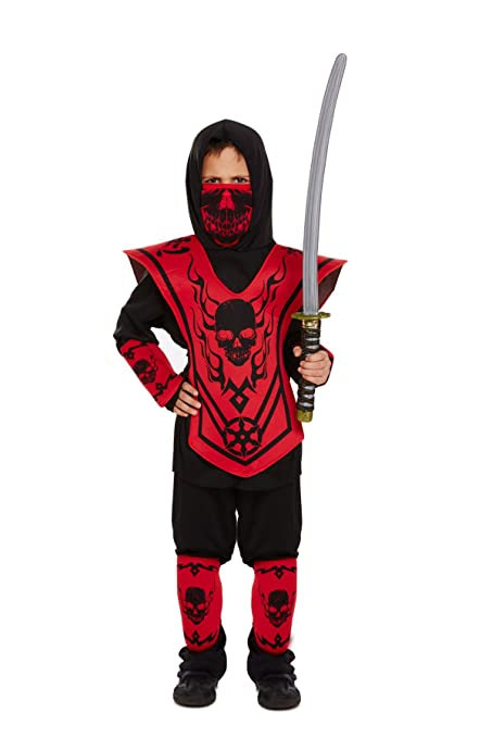 Amazon.com: Henbrandt Ninja Fancy Dress Costume Age 10-12 ...