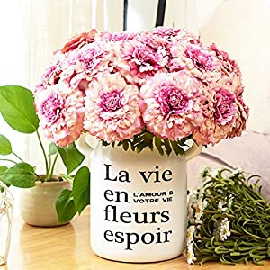 """Felice Arts 10.5"""" Artificial Big Daisy Flowers 6 Stems Silk Fake Daisies Flower Bunch for Home Wedding Table Decoration 19"""