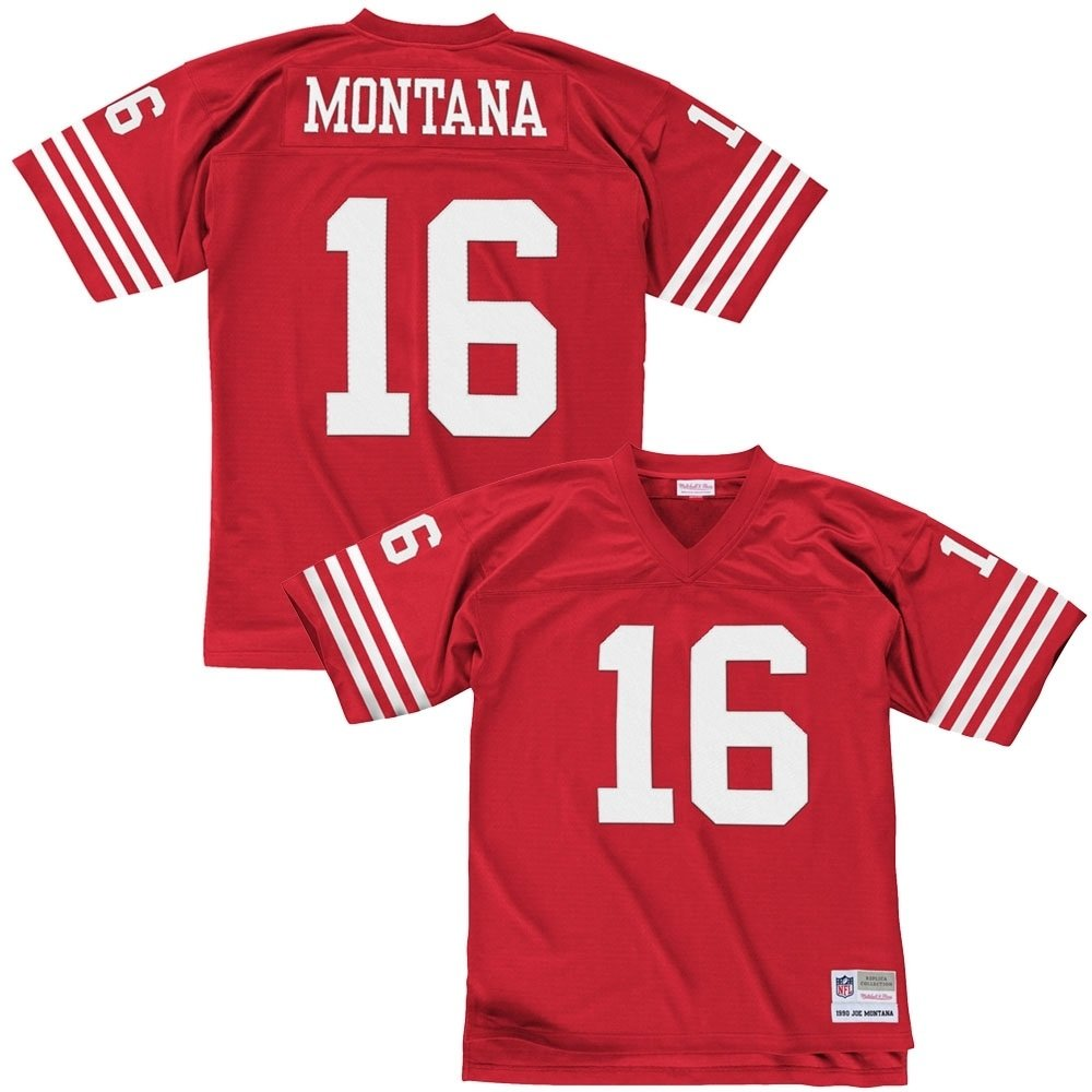 best website d8333 b18de Mitchell & Ness Joe Montana San Francisco 49ers Throwback ...