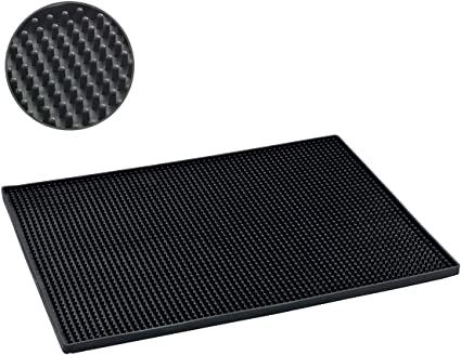 Elast/ómero Termopl/ástico Negro 30x40x3 cm Wenko Maxi Esterilla para Escurrir