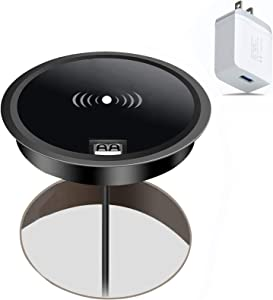 Wireless Charger, hopopower 10W Fast Wireless Charging Pad with Adaptor Compatible with All Qi-Certified iPhone 11/11 Pro/11 Pro Max/XR/XS/Max/X/8/8 Plus Samsung Galaxy S10/S9