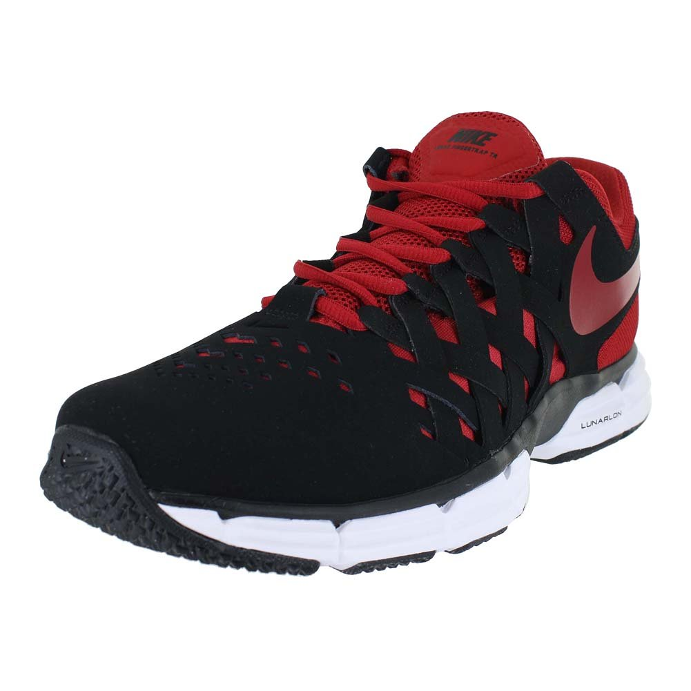 a6e6f0b0b3 Amazon.com | Nike Mens Lunar Fingertrap TR 4E Black Gym RED White Size 9 |  Road Running