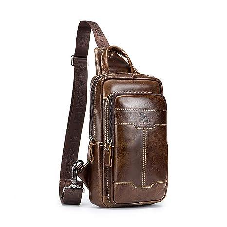 Accessories Multipurpose Daypacks BISON DENIM Genuine Leather Sling Shoulder Backpack Crossbody ...