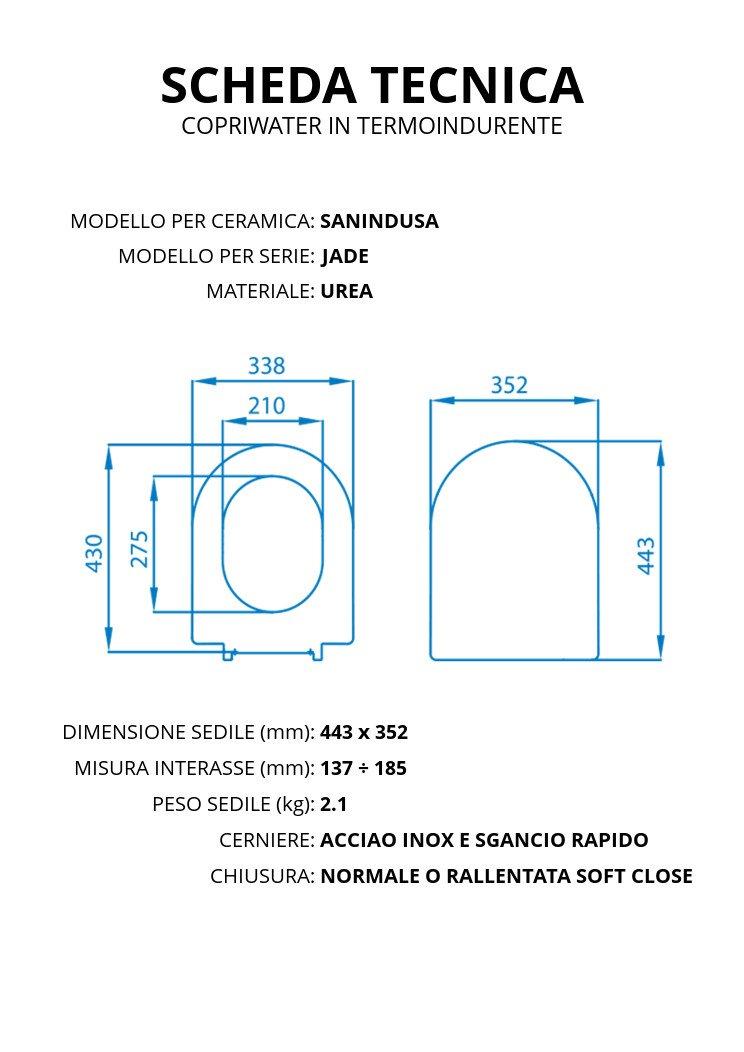 Asiento para inodoro Alfa Sanindusa Termoestable//–/ACB Ercos