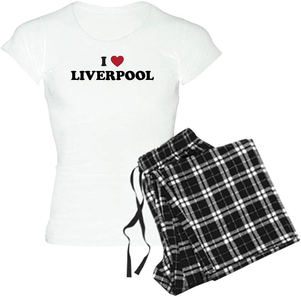 CafePress I Love Liverpool Womens Light Pajamas Womens PJs