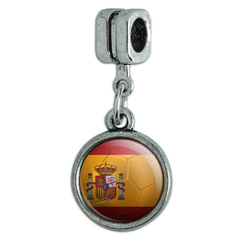 European Style Bracelet Charm Bead Soccer Futbol Football Country Flag I-Z Graphics and More CHARM_EURO_20336