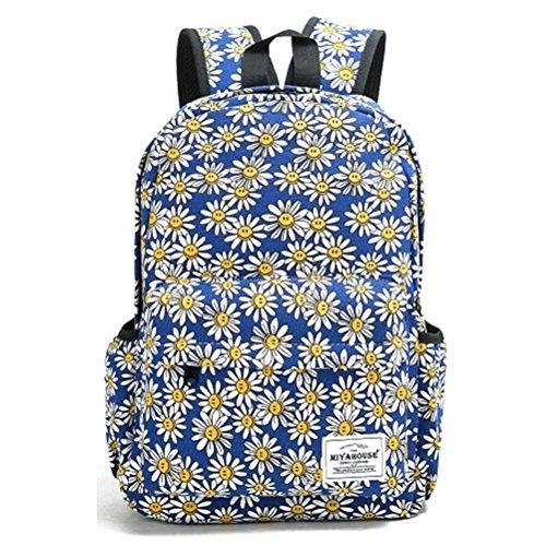 Mochila de impresión única Mujeres Bookbags florales Vintage bolsas de viaje para la escuela de niñas adolescentes Backbag Canvas de alta calidad 1037a