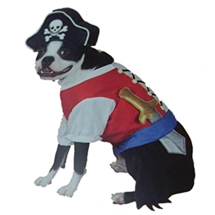 Pet Pirate Costume Dog Pirate Outfit With Skull u0026 Crossbones Hat  sc 1 st  Amazon.com & Amazon.com : Pet Pirate Costume Dog Pirate Outfit With Skull ...