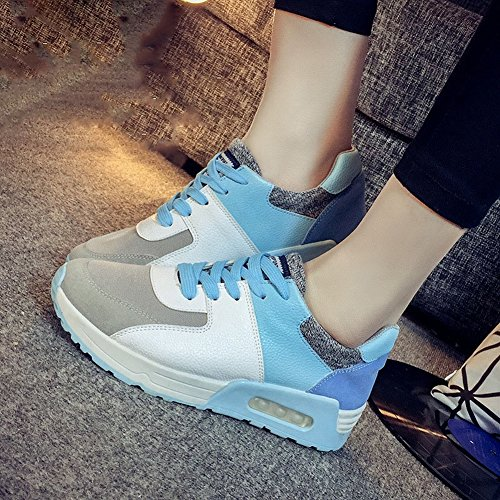 Color Estudiantes Mujeres Zapatos Zapatos Ocio Zapatillas Aire Deportivos EUR35 Cojín azul Mujeres Lucha Bw1HXxF6q