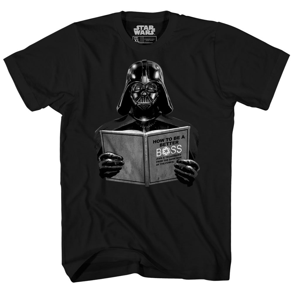 Darth Vader Star Wars Dark Side Empire Funny Humor Pun Adult Men's Graphic Tee T-shirt (Large)