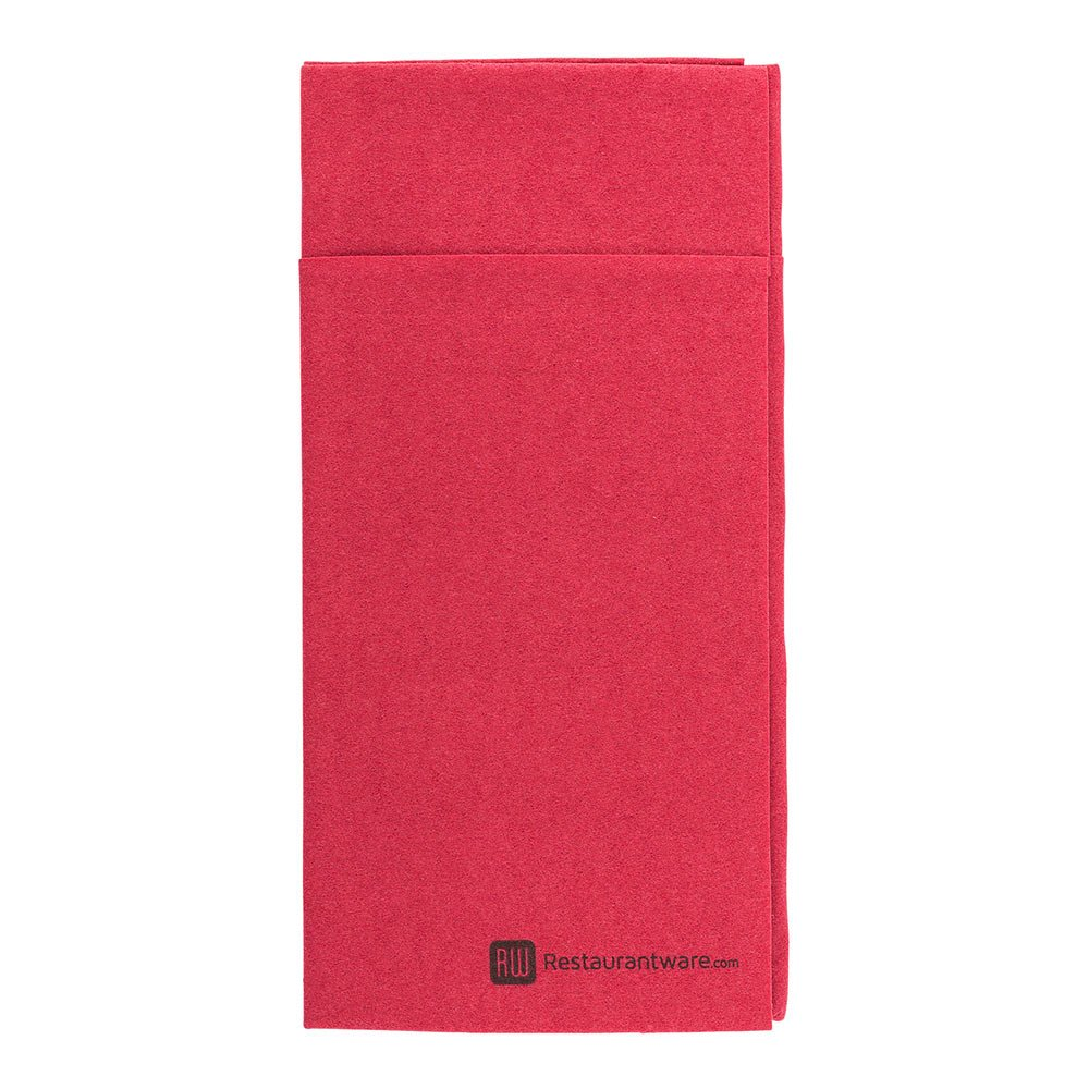 Luxenap Air Laid Kangaroo Burgundy Dinner Napkins - Soft and Durable 16'' x 16'' Paper Napkins with Built-in Flatware Pocket - Disposable and Recyclable – 480-CT – Restaurantware