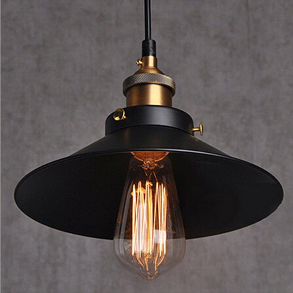 Vintage Retro Edison Loft Pendelleuchte, Retro Industrielle Deckenleuchte Lackiertem Eisen Regenschirm Lampenschirm Land Art Lampe [Energieklasse A+] WanLianInc
