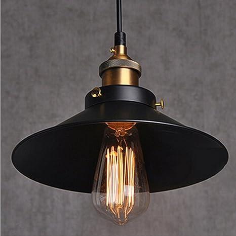 5e842d8f81e Retro Pendant Light Shade Vintage Industrial Ceiling Lighting LED  Restaurant Loft Black Lamp Shade Kitchen Coffee