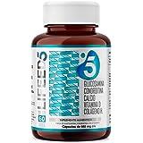 Condroitina + Glucosamina 60 Dias de Uso + Colágeno Hidrolizado, Calcio, Vitamina D3 | LF5 LIFEED5 Joints para Articulaciones