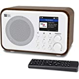 """Ocean Digital WiFi Internet Radios WR-336N Portable Digital Radio with Rechargeable Battery Bluetooth Receiver with 2.4"""" Colo"""