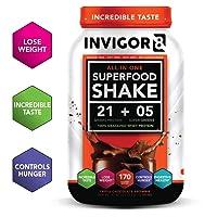INVIGOR8 Superfood Shake (Chocolate Brownie) with Immunity Boosters - Gluten Free...