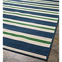 Indoor/Outdoor Lexington Stripe Rug, 67 x 96