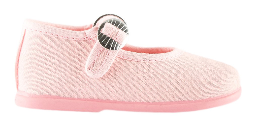 792a480539a98 Namoo Kids Canvas Mary Jane, Cotton and Rubber Sole, Baby/Toddler ...