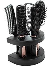 Dightyoho 5pcs Juego de Cepillos de Pelo Peine para el Cabello con Espejo Cepillo Plano,
