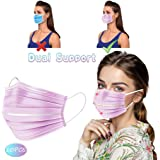 MZRI Disposable Protective Mouthcove, Three-Layer High-Densityfilter,Shape of Person's Face Three-Dimensional Double Support