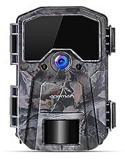 APEMAN Cámara de Caza 16MP 1080P Cámara de vigilància de la Vida Silvestre,Cámara de Juego de detección Nocturna sin LED de Brillo de 940nm IR,Lapso de Tiempo,Temporizador,Diseño Impermeable IP66