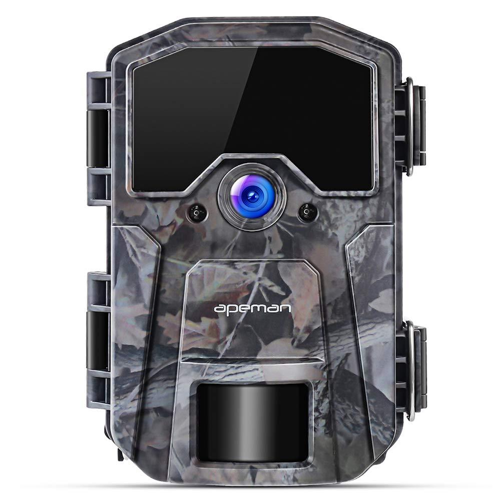 APEMAN Cámara de Caza 16MP 1080P Cámara de vigilància de la Vida Silvestre, Cámara de Juego de detección Nocturna sin LED de Brillo de 850nm IR,Lapso de ...