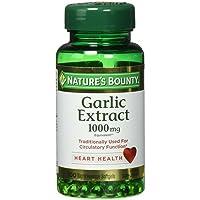 Nature's Bounty Garlic 1000 mg Rapid Release 100 Odorless Softgels