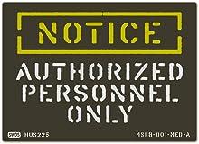 ミリタリー ステシル サイン&ラベルズ ステッカー(通知;許可のある者のみ)