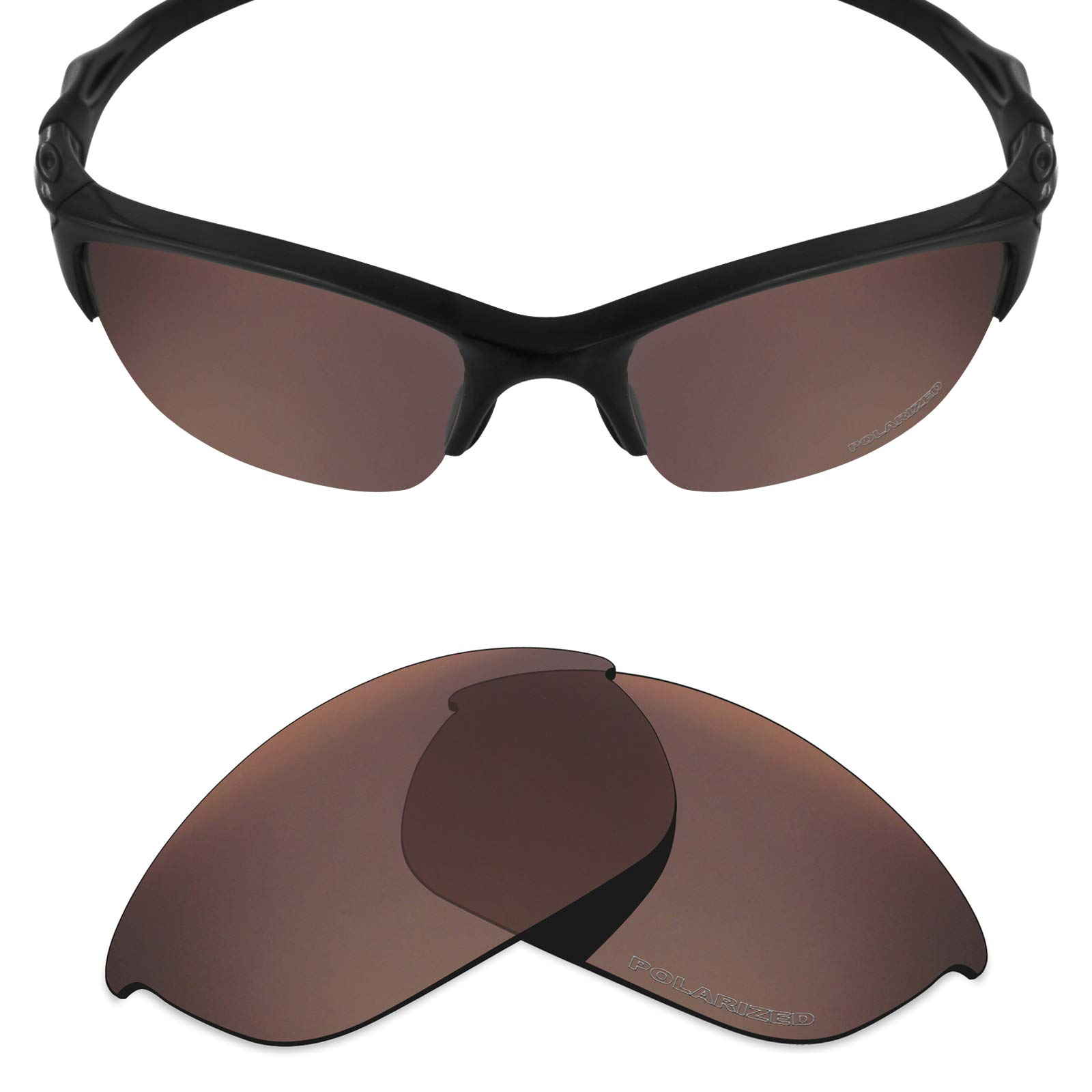a862b49a10344 Mryok+ Polarized Replacement Lenses for Oakley Half Jacket 2.0 - Bronze  Brown