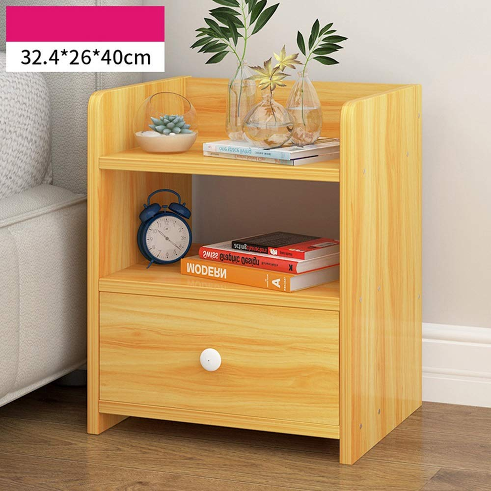 3 Sugoishop Bedside Table Simple Small Cabinet Storage Cabinet Bedroom Side Cabinet Storage Cabinet (color   11)