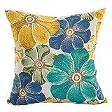 "43 X 43cm / 16.9 X 16.9"" Polyester Decorative Pillowcases,Woaills 1 PC Sofa Waist Cushion Cover (Green)"