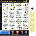 "Eazy How To Foam Roller Poster Exercise Workout BIG 20 x 28"" Relax, Stretch, Heal Muscle Therapy Home Gym Chart by Eazy How To"