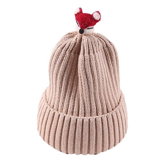 Toddler Girl/&Boy Baby Christmas Cartoon Deer Hat Winter Warm Crochet Knit Cap UK