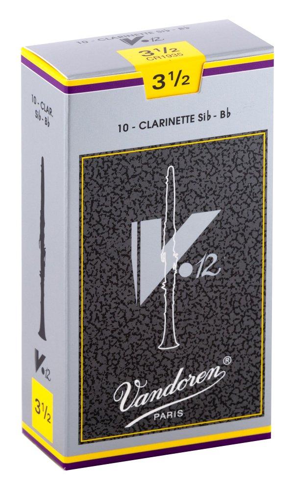 Vandoren CR1935 Bb Clarinet V.12 Reeds Strength 3.5; Box of 10