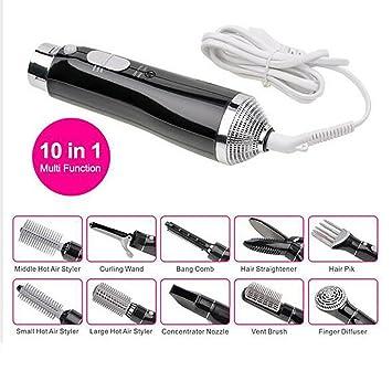Straight Hair Comb Secador De Pelo Multifuncional 10-En-1 Con El Peine Para