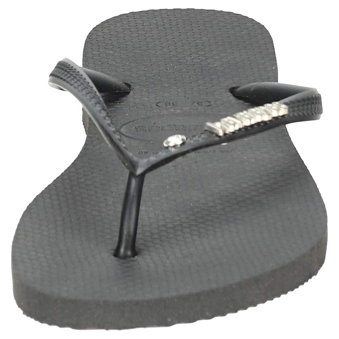 cd5acf6dc Havaianas Flip Flops Women Slim Metal Logo And Crystal  Amazon.co.uk  Shoes    Bags