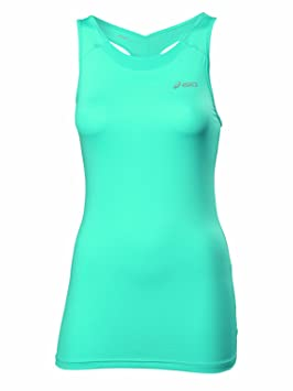 Asics Fitness - Camiseta sin mangas de fitness para mujer, color turquesa, talla L