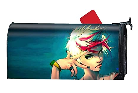Calibre Life Artistic Women Custom Mailbox Covers Magnetic Mailbox Wrap Great Garden Decor