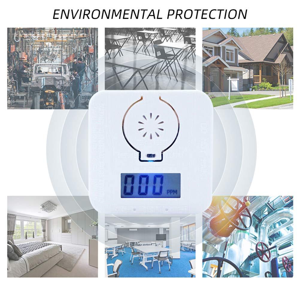 BYJIN 2PCS Detector de mon/óxido de Carbono Alarma CO con Pantalla LCD Detecci/ón r/ápida y Alarma Inteligente para garantizar la Seguridad de la Familia//Propiedad