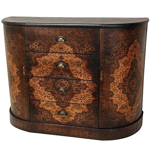 (Oriental Furniture Olde-Worlde European Four Drawer Credenza)