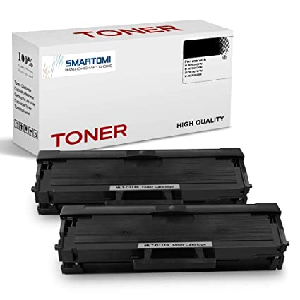 SMARTOMI - 2 cartuchos de tóner negro MLT-D111S compatibles con ...