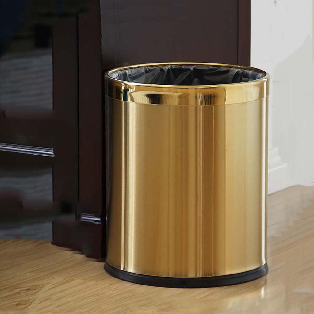 LJ 地球ホーゴールドステンレススチール製のゴミ箱クリエイティブファッションのゴミ箱は、大規模なシンプルなファミリーホテルリビングルームをカバーすることはできません W ( サイズ さいず : 10L ) B078MYFZBM 10L 10L