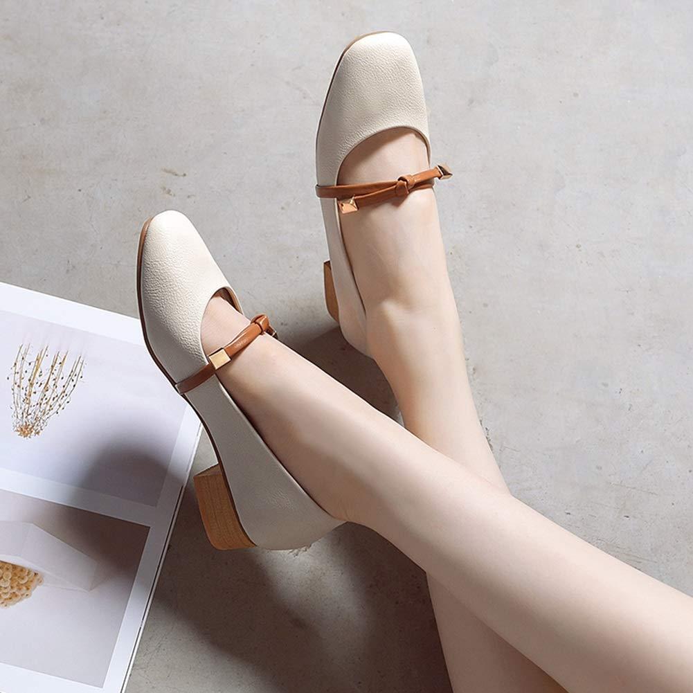 Damenschuhe HWF Frauen Shallow Mouth PU PU PU Leder Freizeitschuhe Leder Komfortable Fashion Driving Schuhe (Farbe   Beige größe   35) e50d88